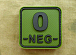 JTG O Neg Blood Type Square PVC Patch Forest