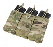 Condor Triple Open-Top M4 Mag Pouch Multicam