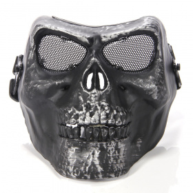 China made Airsoft Mask Skull Silver/Black