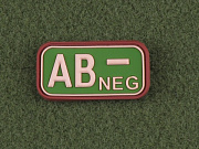 JTG AB Neg Blood Type Patch Multicam