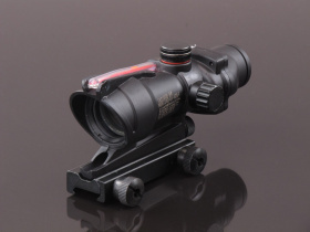 China made ACOG Red/Green Dot Scope (with optic fiber dummy) Black