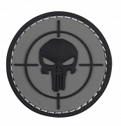 101 INC Punisher Sight 3D PVC Patch Black/Grey