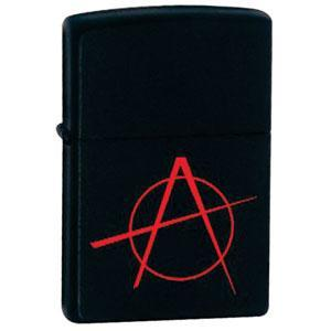 ZIPPO зажигалка black matte anarchy