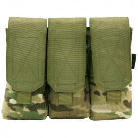 Highlander Triple Mag Pouch with Velcro Multicam