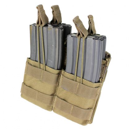Condor Double Stacker Open-Top M4 Mag Pouch Tan