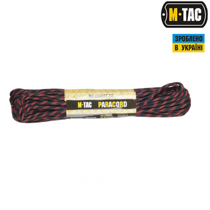 M-Tac паракорд 550 type III Thin Red Line 30м