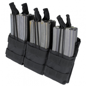 Condor Triple Stacker Open-Top M4 Mag Pouch BK