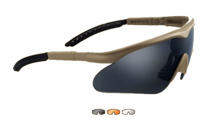 Swiss Eye очки Raptor Smoke/Orange/Clear Lens/Brown Frame