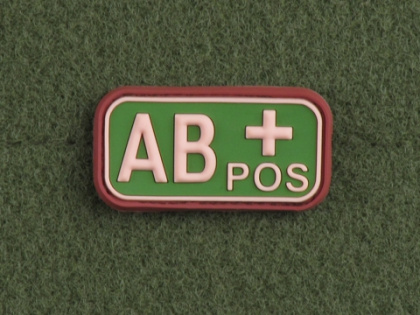 JTG AB Pos Blood Type Patch Multicam