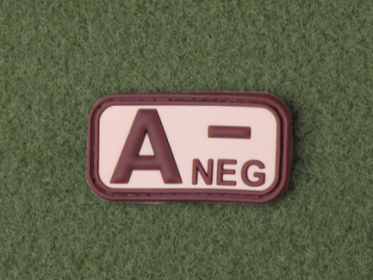 JTG A Neg Blood Type Patch Desert