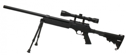 China made MB06D Spring Rifle BK (with scope & bipod)