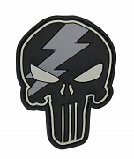 101 INC Punisher Thunder 3D PVC Patch Black/Grey
