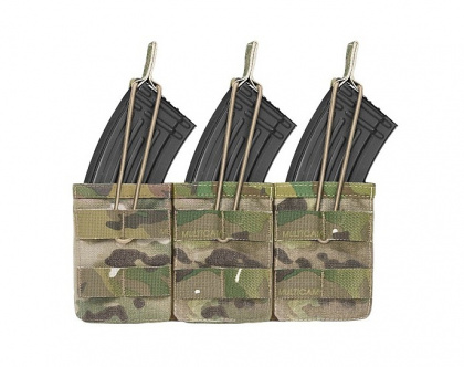 WAS Triple MOLLE Open AK 7.62mm Pouch Multicam