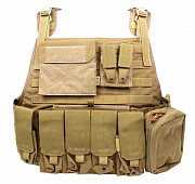 Flyye PC Plate Carrier with Pouches Khaki все разм.