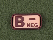 JTG B Neg Blood Type Patch Desert