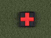 JTG Red Cross Medic 25mm Patch BlackMedic