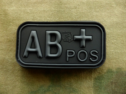 JTG AB Pos Blood Type Patch BlacOps