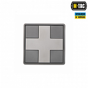 M-Tac нашивка Medic Cross Square ПВХ серая