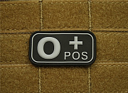 JTG O Pos Blood Type Patch SWAT