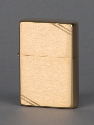 ZIPPO зажигалка vintage brushed brass