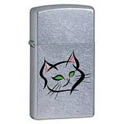 ZIPPO зажигалка kitten slim street chrome