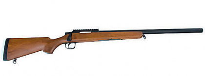 AGM MP001A spring sniper rifle (wood-looking plastic)
