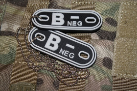 JTG B Neg Blood Type Dog Tags SWAT