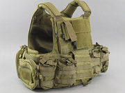 TMC CIR Force Recon Vest Ver. Land (with pouches) Khaki