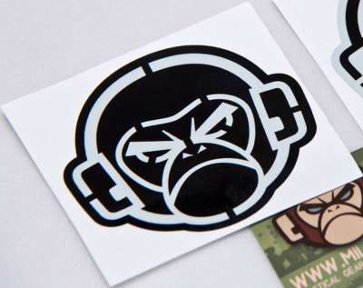 MSM Logo Stencil Decal Grey on Black