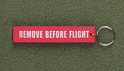 JTG Remove Before Flight Rubber Keyring GID