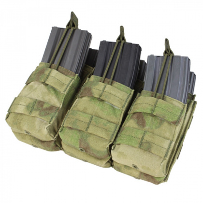 Condor Triple Stacker Open-Top M4 Mag Pouch A-TACS FG