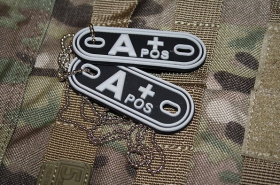 JTG A Pos Blood Type Dog Tags SWAT