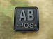 JTG AB Pos Blood Type Square Patch BlackOps