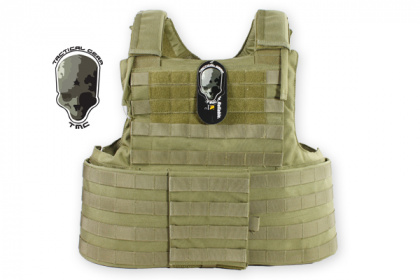 TMC CIR Force Recon Vest Ver. Land (without pouches) Khaki