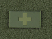 JTG Swiss Flag Patch Light Forest