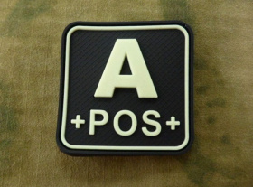JTG A Pos Blood Type Square Patch GID