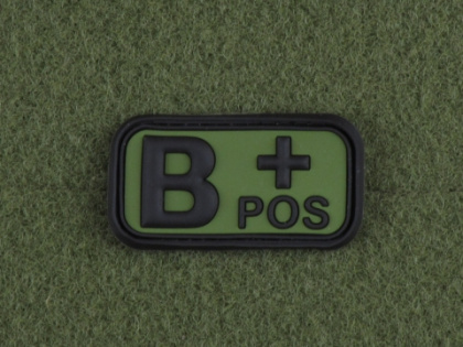 JTG B Pos Blood Type Patch Forest