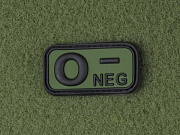 JTG O Neg Blood Type Patch Forest