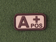JTG A Pos Blood Type Patch Desert