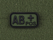 JTG AB Pos Blood Type Patch Forest