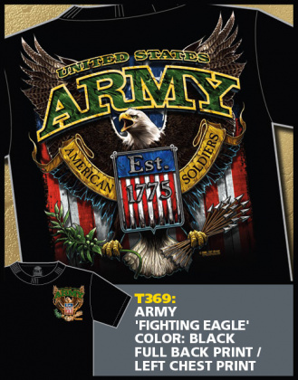 7,62 футболка Army Fighting Eagle черная все разм.