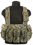 Милтек разгр. система Chest Rig Digital Woodland