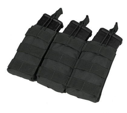 Condor Triple Open-Top M4 Mag Pouch Black