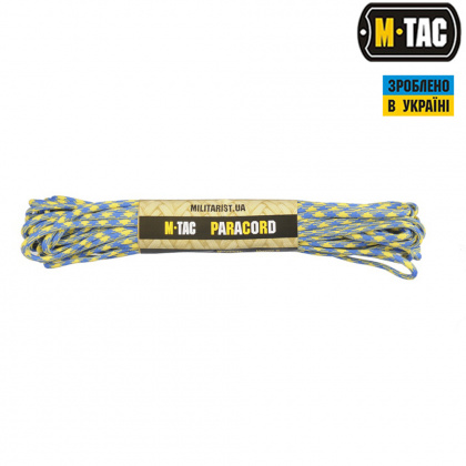 M-Tac паракорд 550 type III Yellow/Blue 15м