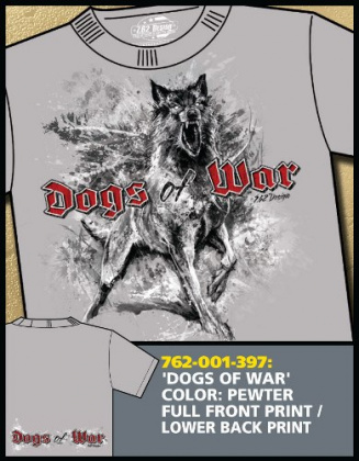 7,62 футболка Dogs of War серебристо-серая все разм.