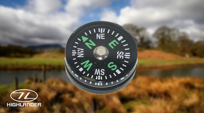 Highlander Button Compass