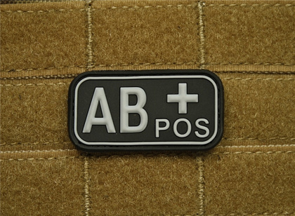 JTG AB Pos Blood Type Patch SWAT