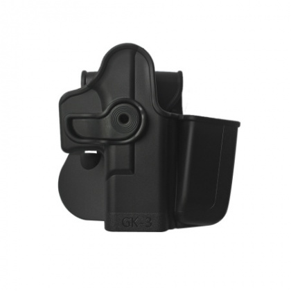IMI Plastic Holster With Pouch Glock 17 Black