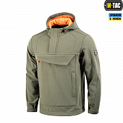 M-Tac анорак Soft Shell Fighter Dark Olive/Orange