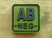 JTG AB Neg Blood Type Square Patch Forest